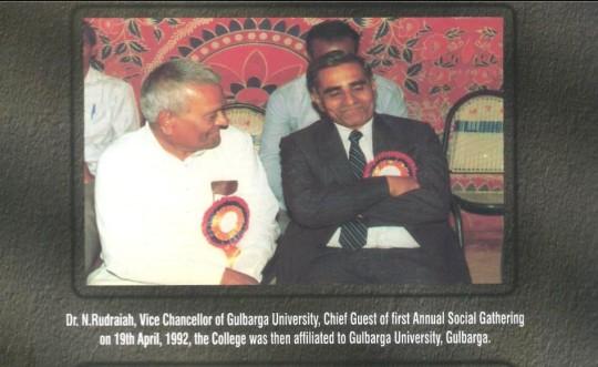 Dr. N. Rudraih Visit to Campus